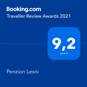 Hodnocení na booking - ubytování Milovice